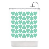 "Kess Inhouse Project M ""Up and Down Hearts"" Shower Curtain 
