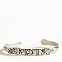Rock On Word Cuff By Jen's Pirate Booty