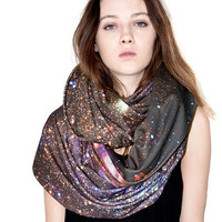 Oversized Spiderweb Galaxy Scarf, Infinity Scarf, Soft Cotton