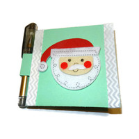 Santa Claus Post It Note Holder and Mini Gel Pen