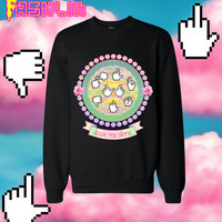 Leave Me Alone INSULT Mouse Pointers Sweatshirt in Black // Pastel Grunge // Pastel Goth // fASHLIN