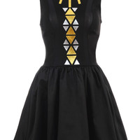 Clothing : Structured Dresses : 'KiKi' Tribal Print Ball Skirt Dress