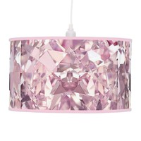 Bubblegum Pink Diamond Hanging Pendant Lamp