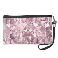 Pink Bubblegum Diamond Wristlet Handbag