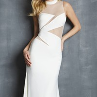 Illusion Net Jersey Gown by NightMoves by Allure