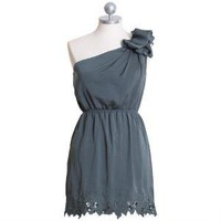 emerald cascades one shoulder dress - $49.99 : ShopRuche.com, Vintage Inspired Clothing, Affordable Clothes, Eco friendly Fashion