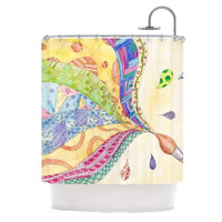 KESS InHouse The Painted Quilt Polyester Shower Curtain
