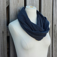 Dark Heather Gray Infinity Scarf - The GRANDE Gray Eternity Scarf - Charcoal Loop Scarf