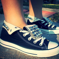WEEKEND SALE!!! Custom Adult Studded Converse Shoes