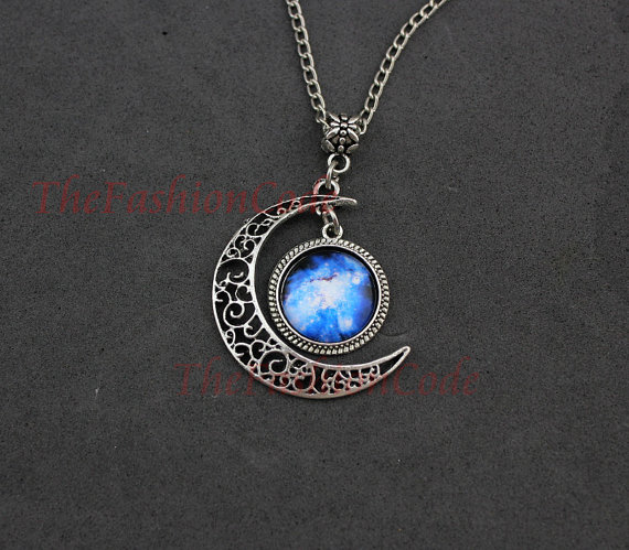moon necklace crescent moon pendant from thefashioncode on