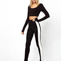 ASOS Tube Trousers with Side Stripe