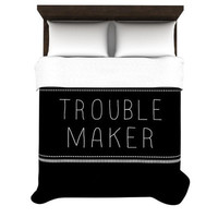 KESS InHouse Trouble Maker Duvet Cover Collection