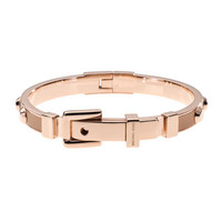 Michael Kors Astor Stud Buckle Bangle, Rose Golden/Buff
