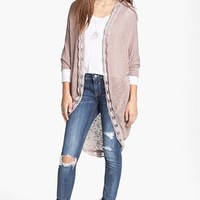 Painted Threads 'Mary Kate' Lace Trim Cardigan (Juniors) | Nordstrom