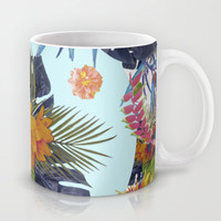 TROPICAL FLORAL Mug by Nika