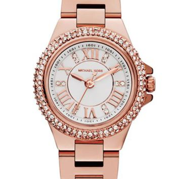 Michael Kors 'Mini Camille' Pave Bezel Bracelet Watch, 26mm
