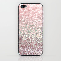 Girly Pink Snowfall iPhone & iPod Skin by Lisa Argyropoulos