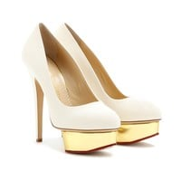 mytheresa.com - Dolly canvas platform pumps - Luxury Fashion for Women / Designer clothing, shoes, bags