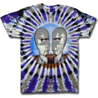 """Pink Floyd """"Division Bell """" Tie-Dye T-Shirt - Large"""