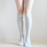 SALE Jane Knee socks Leg warmer Knee high Boot socks Retro pin up preppy gift for her