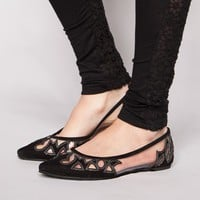 Cut out see through flats