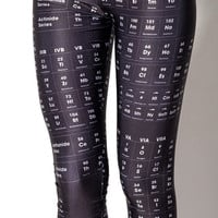 Periodic Table Black Leggings - LIMITED | Black Milk Clothing