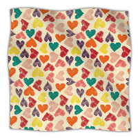 "Louise Machado ""Little Hearts"" Fleece Throw Blanket 