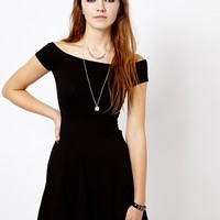 New Look Off The Shoulder Skater Dress