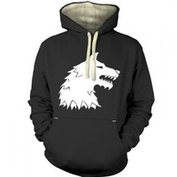 Something Geeky PP - Dire Wolf Premium Hoodie - Inspired By Game Of Thrones