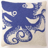 Blue Octopus Sea Life Hook Pillows | Gracious Style