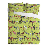 Sharon Turner Pistachio Spice Deer Sheet Set
