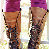 Fight For Your Right Combat Boots: Brown