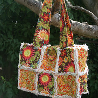 Custom Rag Bag Tote Made To Order - Any Color Scheme