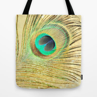 Festive Plumage Tote Bag by Lisa Argyropoulos
