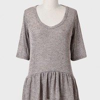 Always Wishing Peplum Top In Gray
