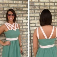 Teal 'All the Right Straps' Dress