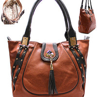 Carmamelo Tote Bag, Brown