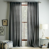Studded Wool Curtain - Heather Gray