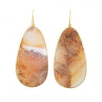Love, Adorned : LOLA BROOKS MOSS AGATE EARRINGS