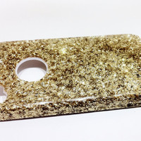 Gold Glitter Sparkle iPhone 4 Case - iPhone 4S cover