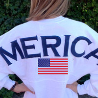 Merica Oversized Spirit Jersey with Monogram