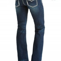 DAKOTA FLARE DECO BACK FLAP PREMIUM JEANS