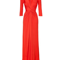 Issa - Fire Red Silk Jersey Maxi Dress