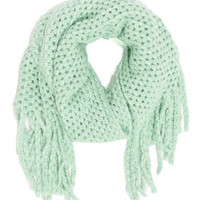 In the Pastel Mint Green Scarf