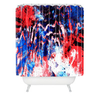 Caleb Troy Techno Zebra Stars 2 Shower Curtain