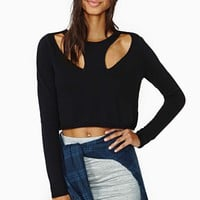 Nasty Gal Front Line Crop Sweater