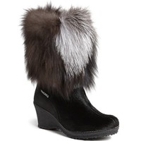 Tecnica® 'Innsbruck' Genuine Fox Fur Trim Wedge Boot | Nordstrom