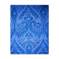 Blue Oriental Peacocks Pattern Twin Duvet