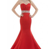Dearta Women's Mermaid/Trumpet Sweetheart Sleeveless Floor-Length Prom Dress