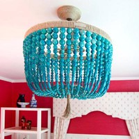 Ro Sham Beaux Malibu Turquoise Swirl Chandelier - Two in Stock!!